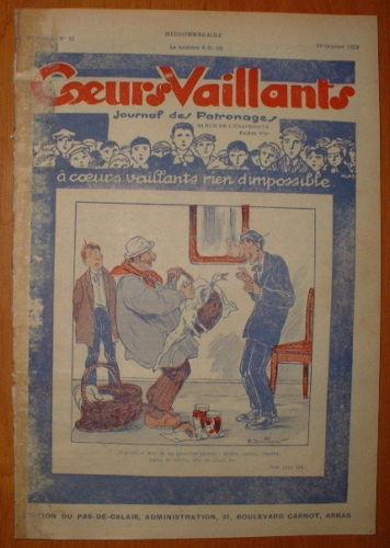 Coeurs Vaillants - Journal des Patronages 1929 - n°42 - édition du Pas-de-Calais