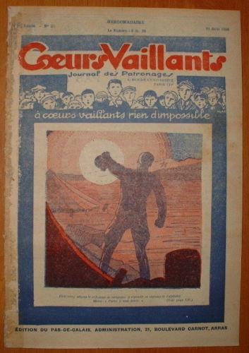 Coeurs Vaillants - Journal des Patronages 1929 - n°35 - édition du Pas-de-Calais