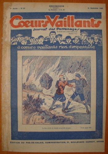 Coeurs Vaillants - Journal des Patronages 1929 - n°38 - édition du Pas-de-Calais