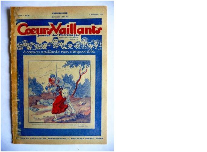 Coeurs Vaillants - Journal des patronages - 1929 - n°36 - Edition du Pas-de-Calais