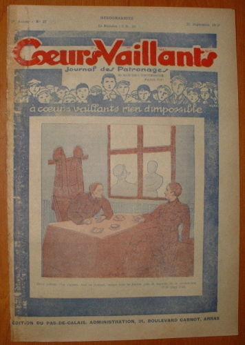 Coeurs Vaillants - Journal des Patronages 1929 - n°39 - édition du Pas-de-Calais