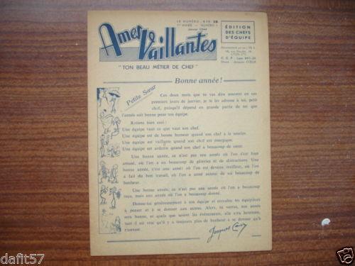 Ames Vaillantes - Edition des chefs d'équipe n°1 - janvier 1944 (1)