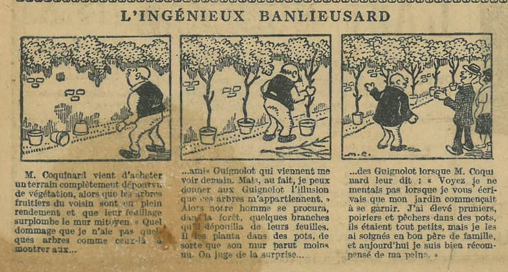 Cuvillier - Le Petit Illustré - 12 juin 1927 - L'ingénieux banlieusard