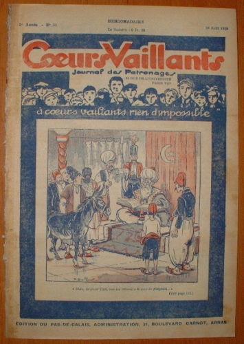 Coeurs Vaillants - Journal des Patronages 1929 - n°34 - édition du Pas-de-Calais
