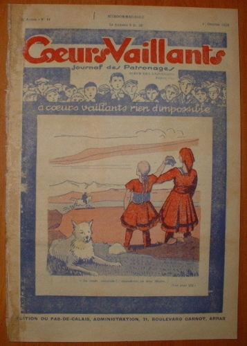 Coeurs Vaillants - Journal des Patronages 1929 - n°41 - édition du Pas-de-Calais