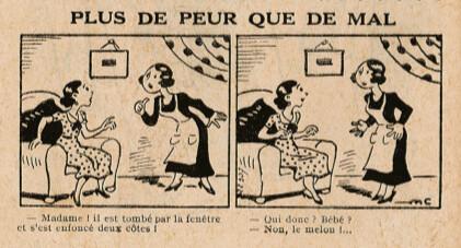 Almanach Lisette 1939 - Plus de peur que de mal - page 50