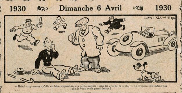 Almanach Vermot 1930 - 12 - Dimanche 6 avril 1930