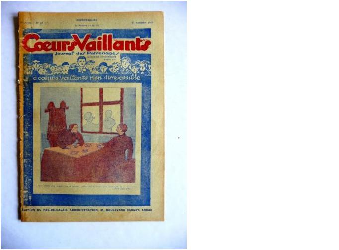 Coeurs Vaillants - Journal des patronages - 1929 - n°39 - Edition du Pas-de-Calais