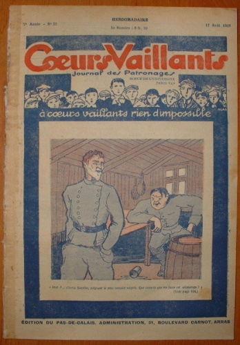 Coeurs Vaillants - Journal des Patronages 1929 - n°33 - édition du Pas-de-Calais