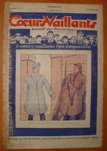 Coeurs Vaillants - Journal des Patronages 1929 - n°43 - édition du Pas-de-Calais