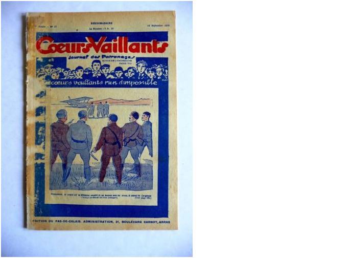 Coeurs Vaillants - Journal des patronages - 1929 - n°37 - Edition du Pas-de-Calais