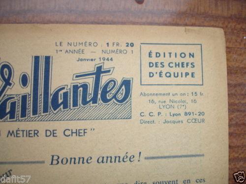 Ames Vaillantes - Edition des chefs d'équipe n°1 - janvier 1944 (2)
