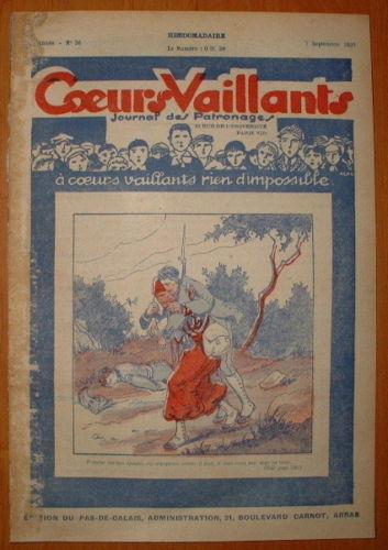 Coeurs Vaillants - Journal des Patronages 1929 - n°36 - édition du Pas-de-Calais
