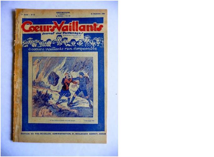 Coeurs Vaillants - Journal des patronages - 1929 - n°38 - Edition du Pas-de-Calais