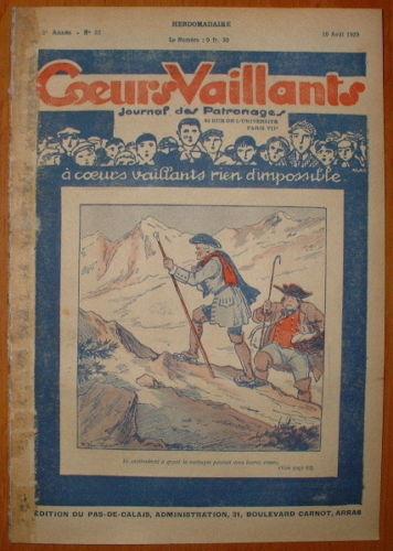 Coeurs Vaillants - Journal des Patronages 1929 - n°32 - édition du Pas-de-Calais