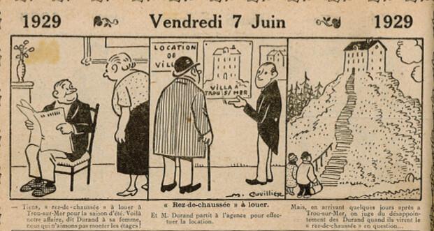 Almanach Vermot 1929 - 39 - Vendredi 7 juin 1929