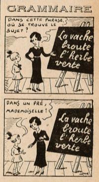 Almanach Lisette 1939 - Grammaire - page 114