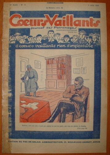 Coeurs Vaillants - Journal des Patronages 1929 - n°31 - édition du Pas-de-Calais