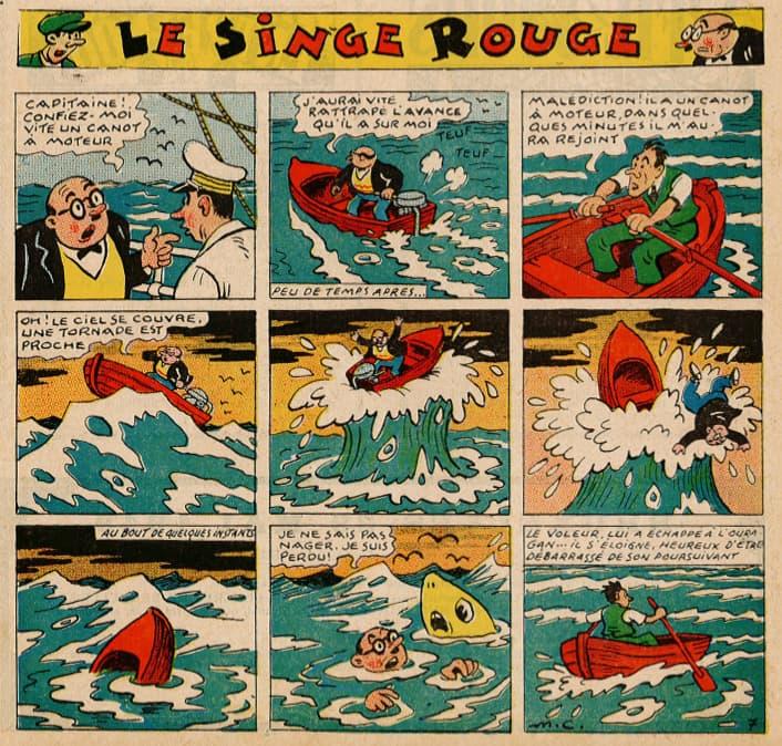 Pat épate 1949 - n°20 - page 1 - Le Singe Rouge - 15 mai 1949