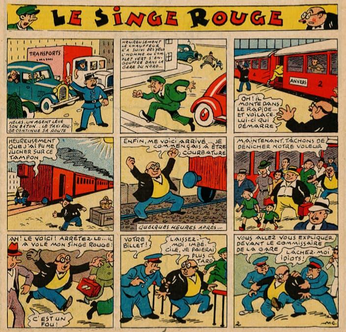 Pat épate 1949 - n°15 - Le Singe Rouge - 10 avril 1949 - page 1