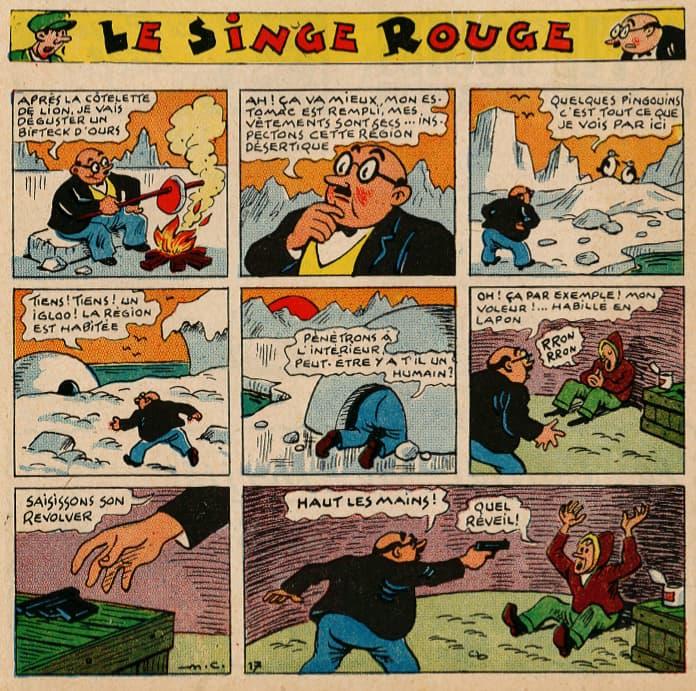 Pat épate 1949 - n°30 - page 1 - Le Singe Rouge - 24 juillet 1949