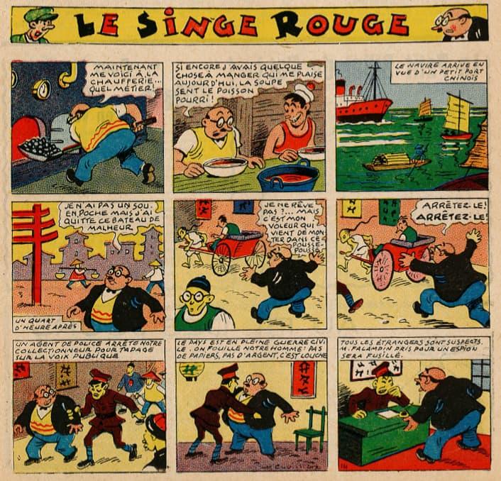 Pat épate 1949 - n°27 - page 1 - Le Singe Rouge - 3 juillet 1949