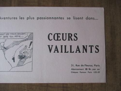 Buvard Coeurs Vaillants avec Tintin (3)
