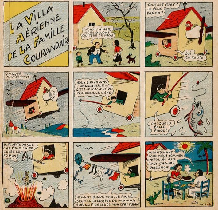 Pat épate 1949 - n°1 - page 1 - La villa aérienne de la famille Courandair - 2 janvier 1949