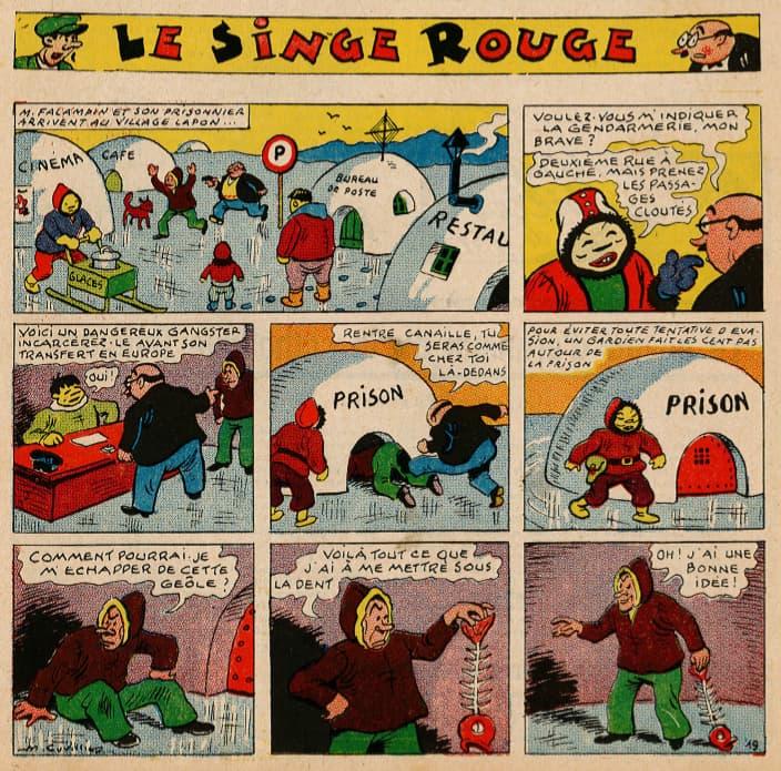 Pat épate 1949 - n°32 - page 1 - Le Singe Rouge - 6 août 1949