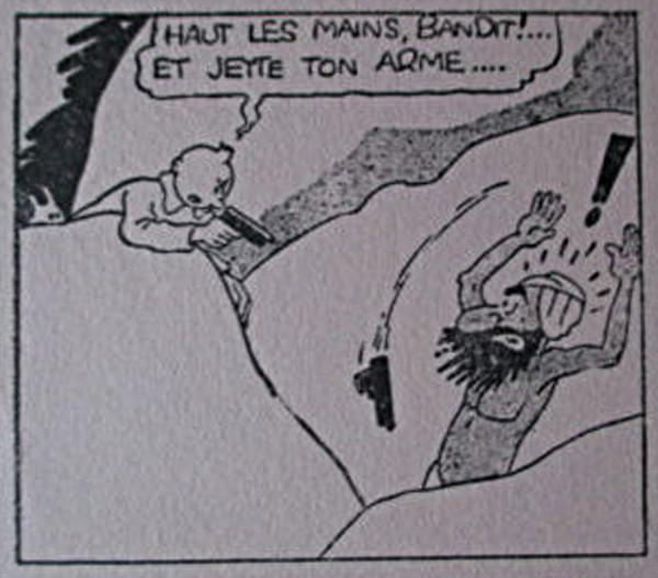 Buvard Coeurs Vaillants 15 Fcs - 2 - Tintin et les cigares du pharaon (détail de la vignette)