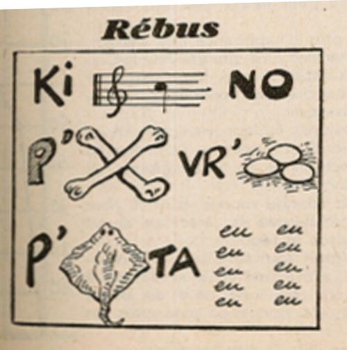 Ames Vaillantes 1938 - n°7 - page 7 - Rébus - 17 février 1938
