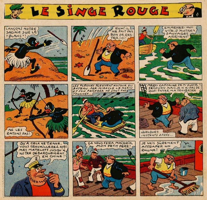 Pat épate 1949 - n°26 - page 1 - Le Singe Rouge - 26 juin 1949