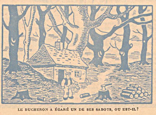 Ames Vaillantes 1937 - n°3 - Le bucheron a égaré un de ses sabots - 23 décembre 1937 - page 13
