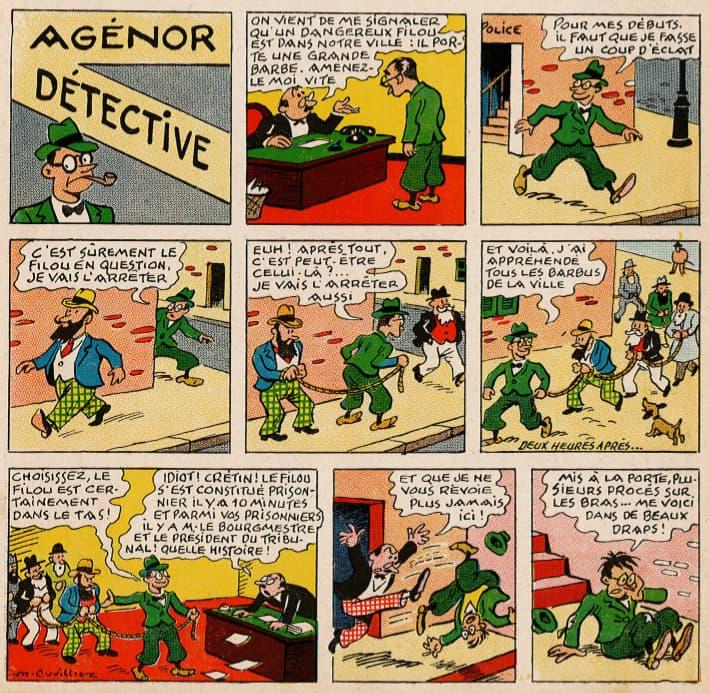 Pat épate 1949 - n°10 - page 1 - Agénor détective - 6 mars 1949