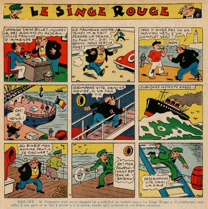 Pat épate 1949 - n°16 - Le Singe Rouge - 17 avril 1949 - page 17