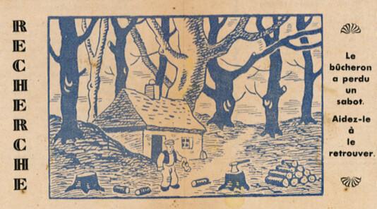 Ames Vaillantes 1938 - n°21 - pages 8 et 9 - Recherche - le bûcheron a perdun un sabot - 28 mai 1938