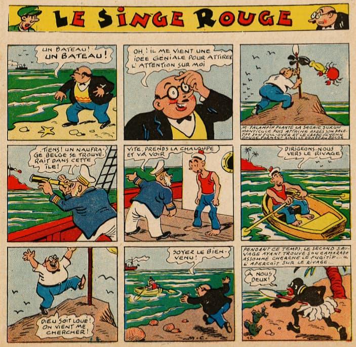 Pat épate 1949 - n°25 - page 1 - Le Singe Rouge - 19 juin 1949