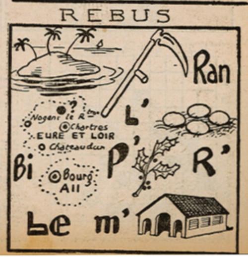 Ames Vaillantes 1938 - n°51 - page 7 - Rébus - 22 décembre 1938
